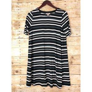 🔸Loft Factory Stripe Rayon T-Shirt Dress